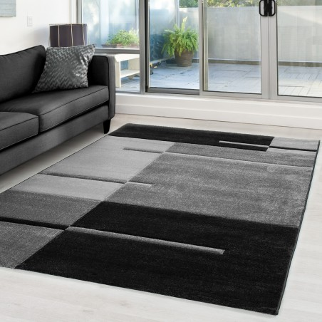 Modern designe contour cut 3D Carpet Hawaii 1310 Grey