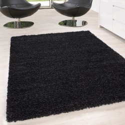 Shaggy Rug Long Pile Carpet Single Color Pile height 5cm Anthracite