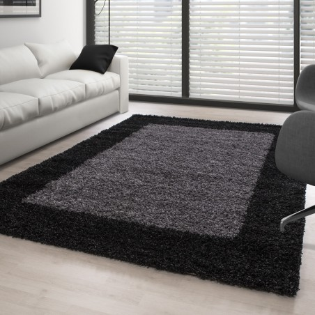 Shaggy Rug Long Pile Carpet designe Anthracite Grey