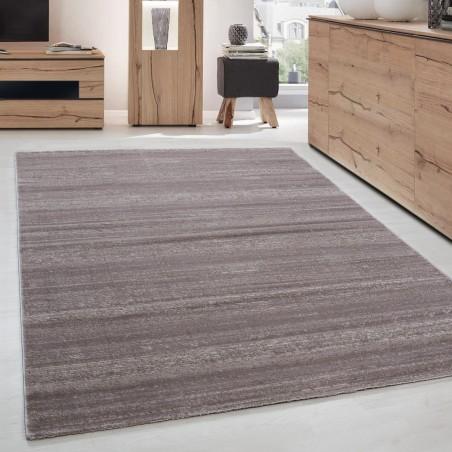 Moderner Designer Kurzflor Wohnzimmer Teppich Beige Mocca