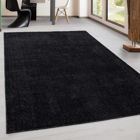 Modern living room Carpet low pile Solid color uni cheap Rug Antracite
