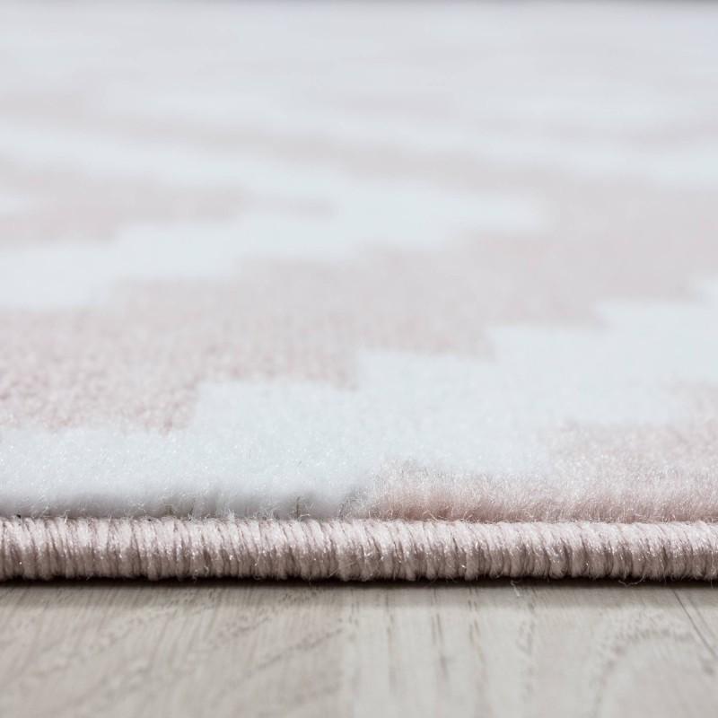 Tapis de salon moderne designe elegance courte pile Gris Blanc