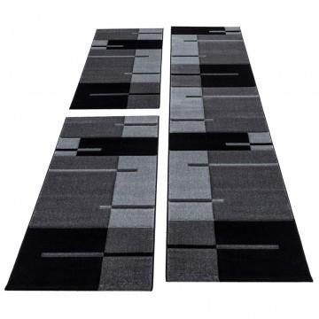 Kurzflor Teppich Läufer-Set...