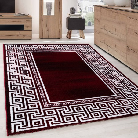 Carpet Modern Designer Geometric edging versace optic Black White Red