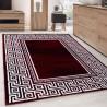 Carpet Modern Designer Geometric edging versace optic Black White Red