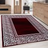 Tappeto Moderno Designer Geometricamente fascia versace Look Nero Rosso Bianco