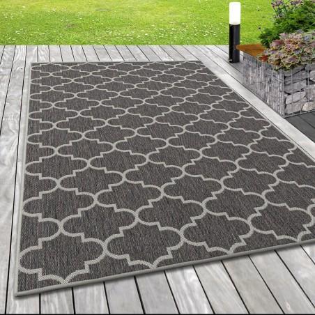 Indoor Outdoor-Teppich Sisal Optik Marokkanisches Design Terassen Teppich Beige