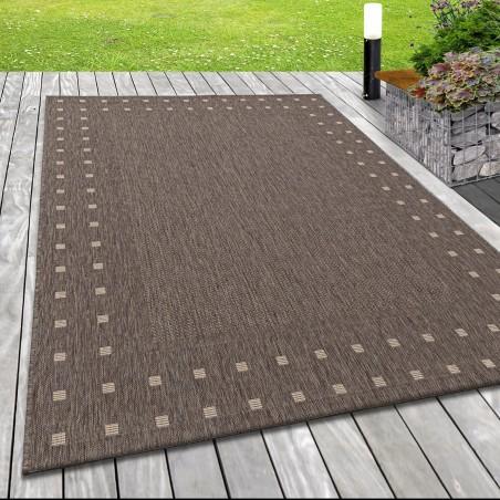 Flachgewebe Teppich Indoor Outdoor-Teppich Sisal Optik Einfach Gemustert Braun