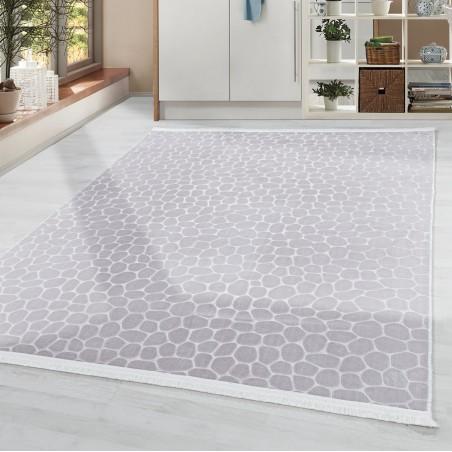 Soft Wohnzimmerteppich Teppich Waschbar Rutschfest Steinboden Motiv Beige